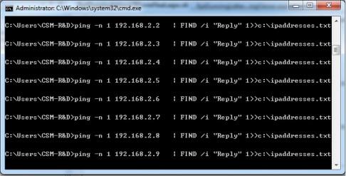 Ketahui IP network anda.